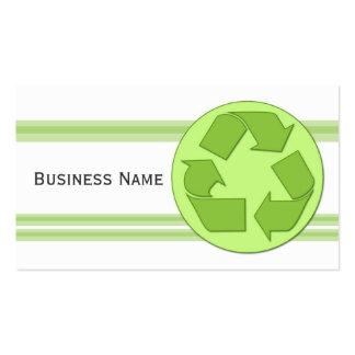 Recicle el diseño tarjetas de visita