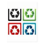 Recicle el diseño tarjetas postales