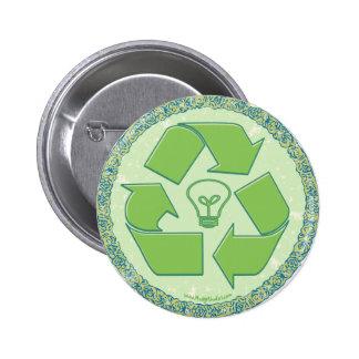 Recicle el engranaje del Día de la Tierra Pins