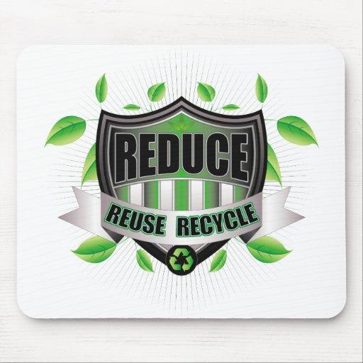 Recicle el escudo mousepads