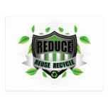 Recicle el escudo tarjetas postales