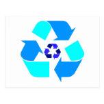 Recicle el fondo adaptable Postca de la insignia Postal