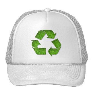 Recicle el gorra del símbolo de la hierba