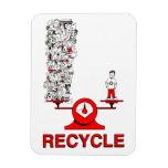 Recicle el imán de la basura