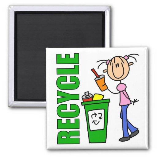 Recicle el imán del Día de la Tierra
