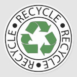 Recicle el logotipo de centro verde etiquetas