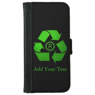 Recicle el logotipo funda cartera para iPhone 6