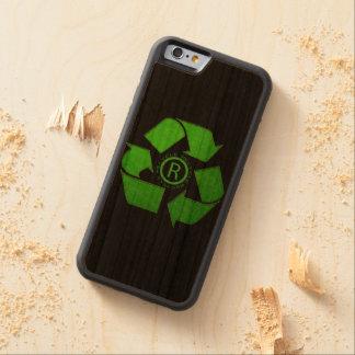 Recicle el logotipo funda de iPhone 6 bumper cerezo