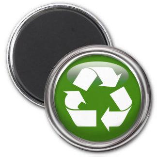 Recicle el logotipo imán redondo 5 cm