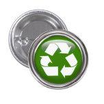 Recicle el logotipo pin
