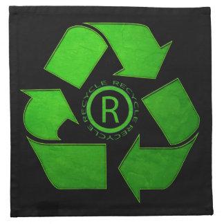 Recicle el logotipo servilletas de papel