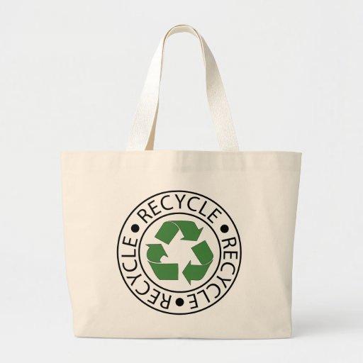Recicle el logotipo verde de Ceter Bolsa Tela Grande