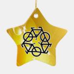 recicle el movimiento de la bici y de la vida ornamente de reyes