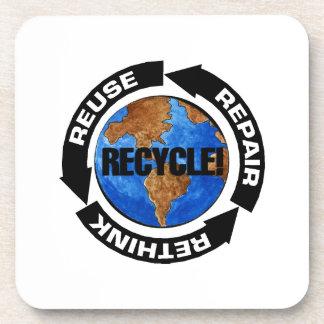 Recicle el mundo posavasos para bebidas