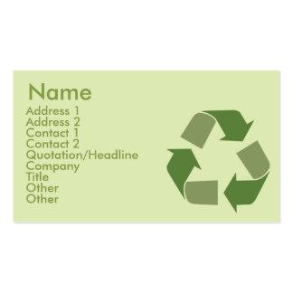 Recicle - el negocio tarjetas de visita