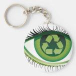 Recicle el ojo llaveros