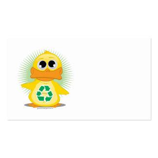 Recicle el pato tarjetas de visita