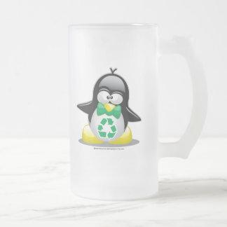Recicle el pingüino tazas
