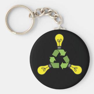 Recicle el poder (el color) llavero redondo tipo pin