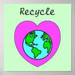 Recicle el poster respetuoso del medio ambiente am