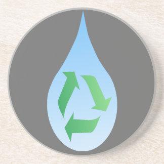 Recicle el práctico de costa del agua posavasos manualidades