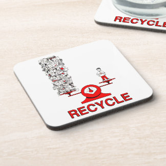 Recicle el práctico de costa del corcho de la basu posavasos de bebidas