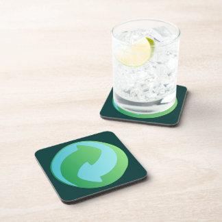 Recicle el práctico de costa del corcho del agua posavasos de bebidas