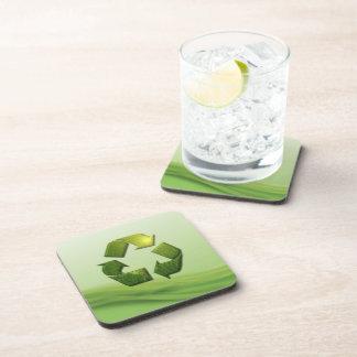 Recicle el práctico de costa del corcho del símbol posavasos de bebidas