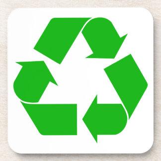 Recicle el práctico de costa del corcho posavasos