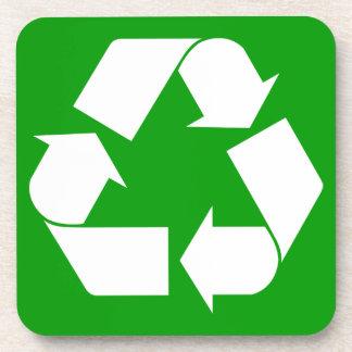 Recicle el práctico de costa del corcho posavaso