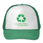 recicle el reciclaje de reserva el gorra del casqu