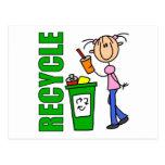 Recicle el regalo de los niños postal