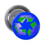 Recicle el símbolo con el botón de la tierra pin