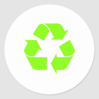 Recicle el símbolo de Chillee Wilson Pegatina Redonda