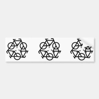 Recicle el símbolo del logotipo de la bicicleta pegatina de parachoque