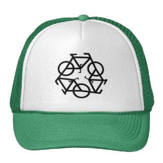 Recicle el símbolo del logotipo de la bicicleta gorras de camionero