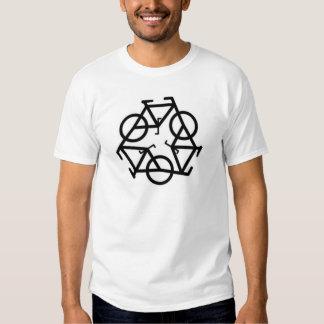 Recicle el símbolo del logotipo de la bicicleta poleras