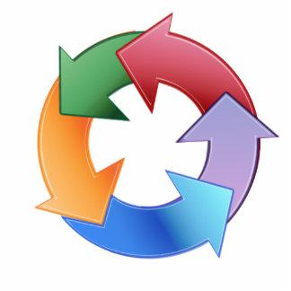 Recicle el símbolo fotoescultura vertical