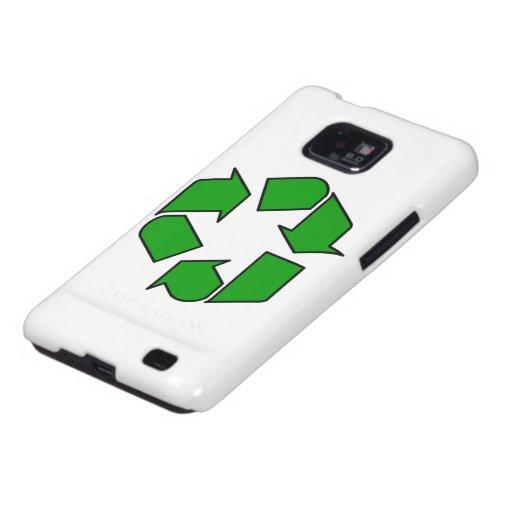 Recicle el símbolo galaxy s2 carcasas