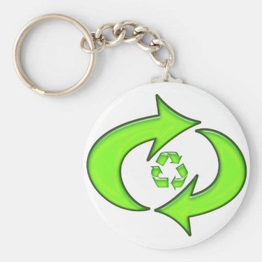 Recicle el símbolo llaveros