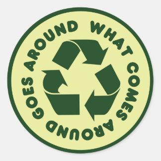 Recicle el símbolo pegatina
