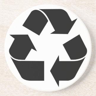 Recicle el símbolo posavasos para bebidas