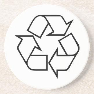 Recicle el símbolo posavasos personalizados