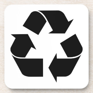 Recicle el símbolo posavaso