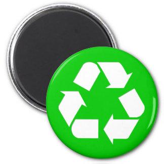 Recicle el símbolo - reduzca reutilice recicle imán de frigorífico