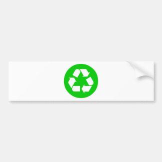 Recicle el símbolo - reduzca, reutilice, recicle pegatina para auto