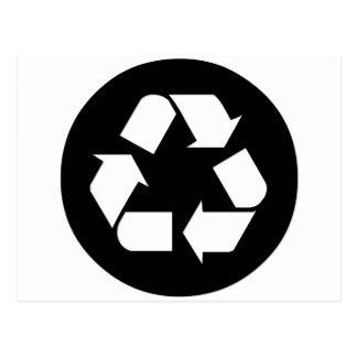 Recicle el símbolo - reduzca, reutilice, recicle postales