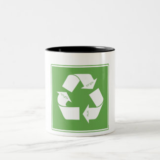 Recicle el símbolo taza de dos tonos