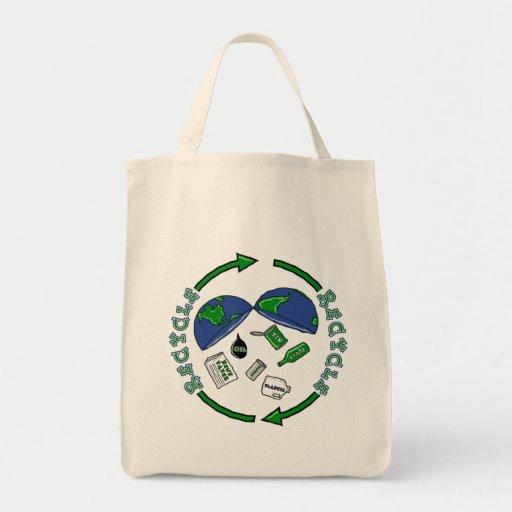 Recicle el totebag bolsa tela para la compra