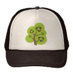 Recicle el verde del árbol gorras de camionero